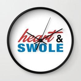 Heart & Swole Wall Clock