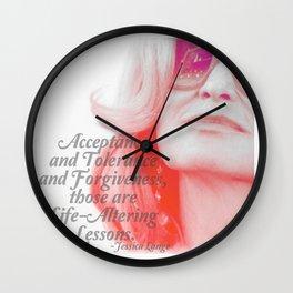 Jessica Lange Quote Wall Clock