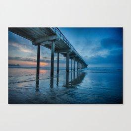 Scripps Pier at sunset Canvas Print