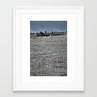palestine Framed Art Prints featuring Jerusalem Palestine by Sanchez Grande