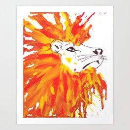 Lion Hair Art Print