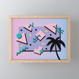 Memphis Pattern 25 - Miami Vice / 80s Retro / Palm Tree Framed Mini Art Print