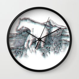 RIDING Wall Clock