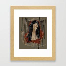 Red Mona Framed Art Print