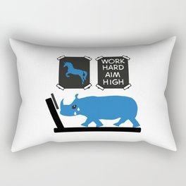 Work hard in the Gym, aim high Rectangular Pillow