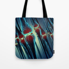 Brain synapses Tote Bag