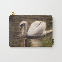 White Swan Painting Carry-All Pouch