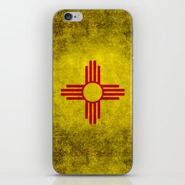 Flag of New Mexico - vintage retro style iPhone Skin