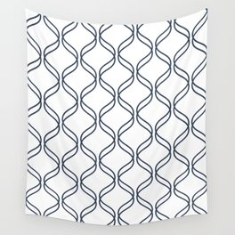 Double Helix - Navy #535 Wall Tapestry