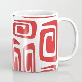 Mid Century Modern Cosmic Abstract 613 Red Coffee Mug