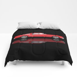 Very Fast Red Car Comforters