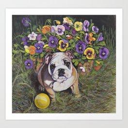Bulldog Puppy Art Print