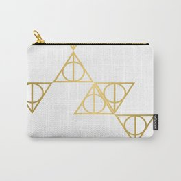 Deathly hallows golden pattern Carry-All Pouch