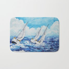 Sailing regatta Bath Mat