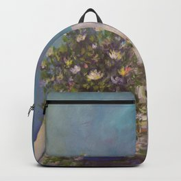 Wildflowers on a Wood Table AC141213 Backpack
