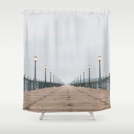 Morning at the Pier Shower Curtain
