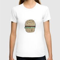 burger T-shirts featuring Burger by Tuesday Alissia