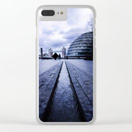 Granite Heart Clear iPhone Case