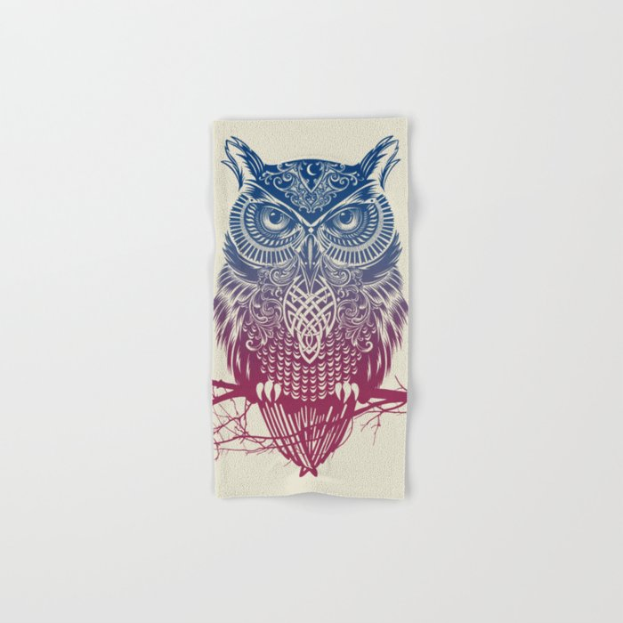 Evening Warrior Owl Hand & Bath Towel