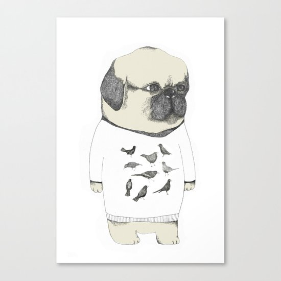 kinotto pug Canvas Print