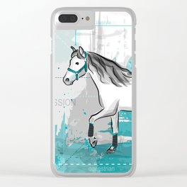 trotting horse Clear iPhone Case