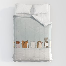 Winter forest animals Comforters