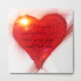 The Way You - Watercolor Valentine Metal Print