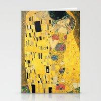 gustav klimt Stationery Cards featuring The Kiss - Gustav Klimt by BravuraMedia