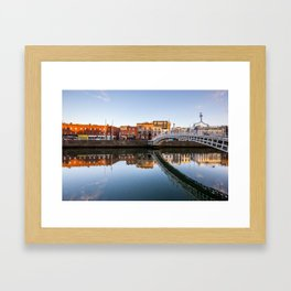 River Liffey Reflections Framed Art Print