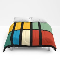Abstract composition 23 Comforters