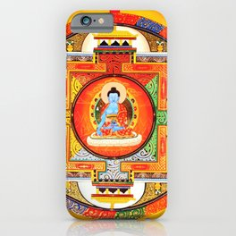 Buddhist Healing Mandala iPhone Case