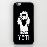 yeti iPhone & iPod Skins featuring Yeti by French Press Mornings