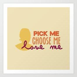 pick me Art Print