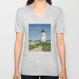 Martha's Vineyard Edgartown Lighthouse Unisex V-Neck