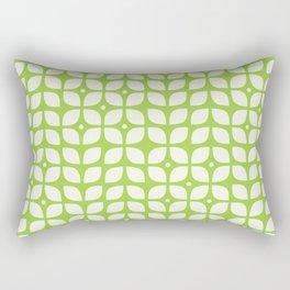 Mid century modern floral green Rectangular Pillow