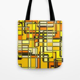 Vintage Yellow Print Tote Bag