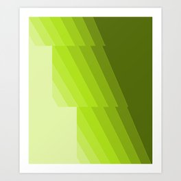 Gradient Green repetition Art Print