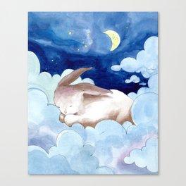 Sleeping Bunny (nursery art, art for children) Canvas Print