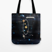 astronomy Tote Bags featuring Mythology of Astronomy by Pygmy Creative