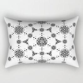molecule. alien crop circle. flower of life and celtic patterns Rectangular Pillow