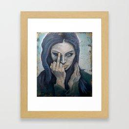 Piss Off Framed Art Print