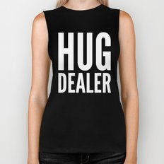 HUG DEALER (Black & White) Biker Tank