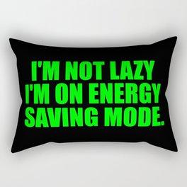 energy saving mode funny quote Rectangular Pillow