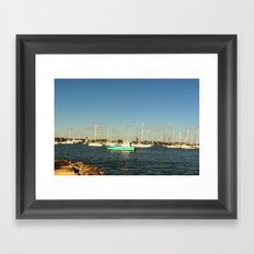 Sailing day Framed Art Print
