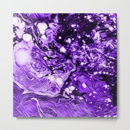 Purple in Abstract Metal Print