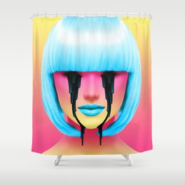 pineapple sweat Shower Curtain