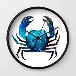 Cerulean blue Crustacean Wall Clock