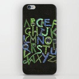 Monster Alphabet. iPhone Skin