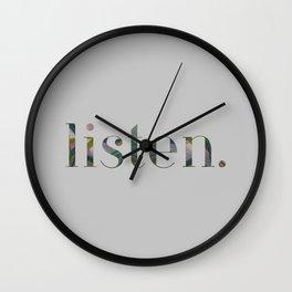 Listen. Wall Clock