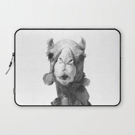 Black and White Camel Portrait Laptop Sleeve